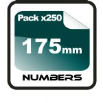17.5cm (175mm) Race Numbers - 250 pack